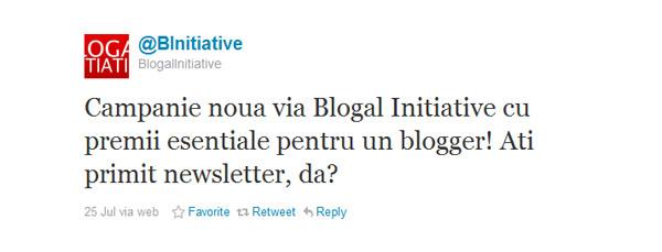 blogal initiative tweet