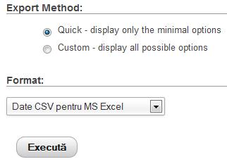 date csv pentru ms excel