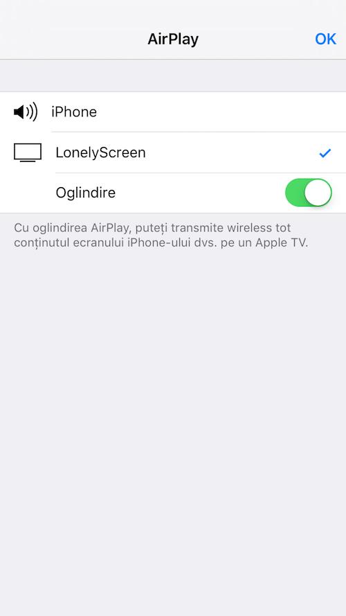 cum proiectezi ecranul iPhone-ului folosind AirPlay și conexiunea wireless2