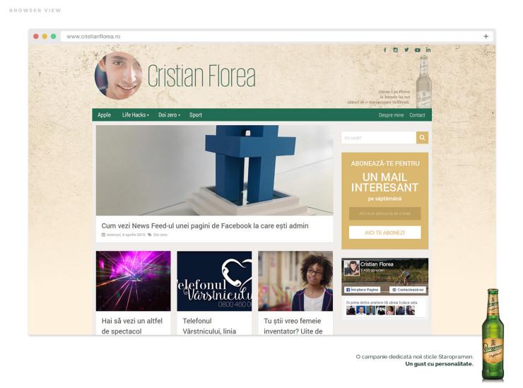 cristian florea - design staropramen