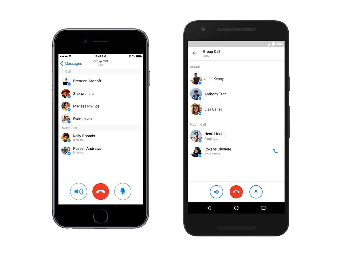 group calling - facebook messenger