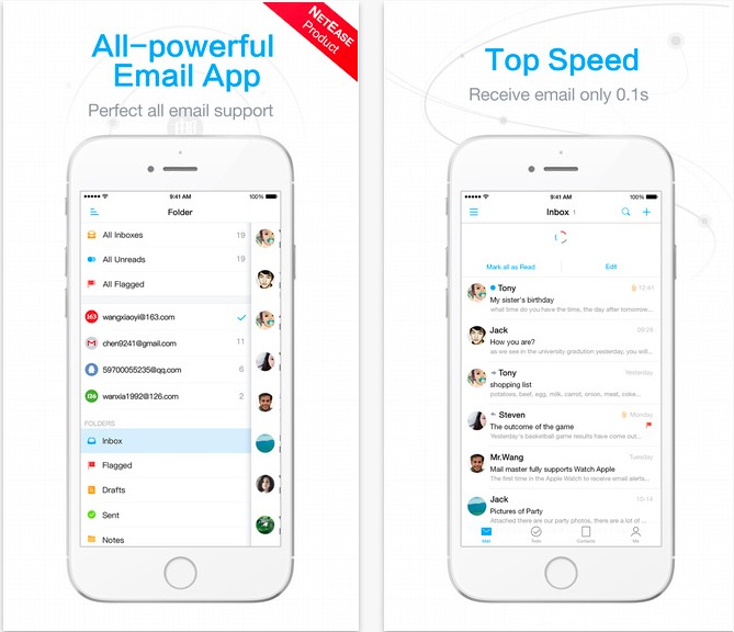 aplicații pentru iPhone - mail master pro