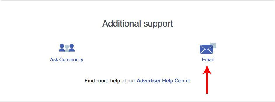 mailuri către facebook support