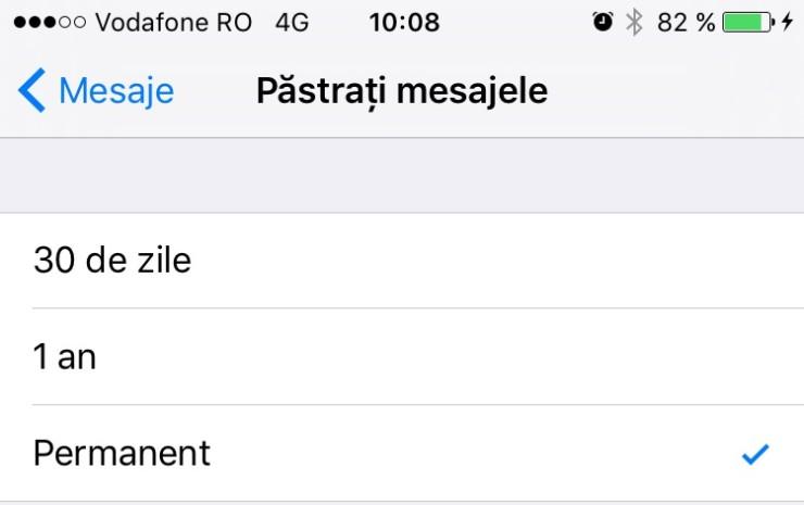 mai mult spațiu pe iPhone - mesaje
