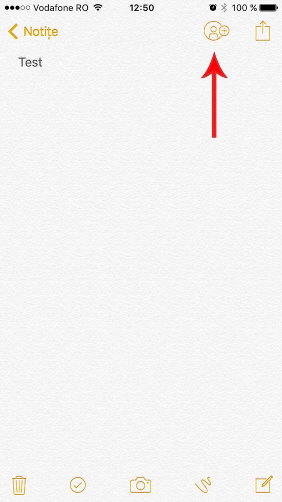aplicatia de notite in ios 10