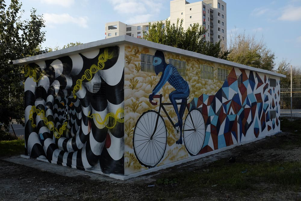 Enel - arta urbana biciclisti