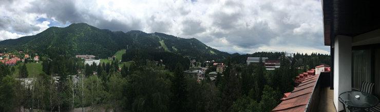 vedere de pe balcon - hotel alpin poiana brasov