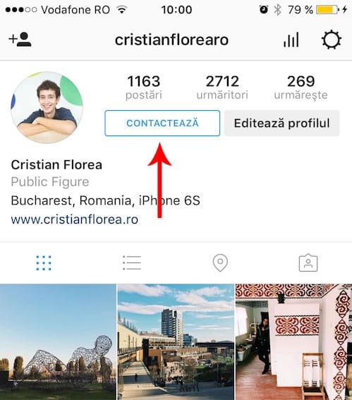 statistici instagram - profil business