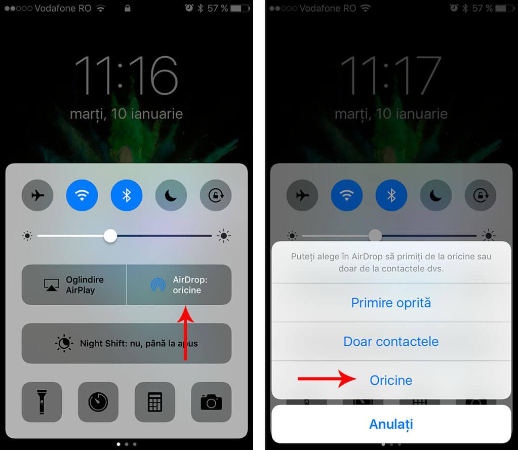 transfera clipuri și fotografii de pe smartphone - cum activezi airdrop