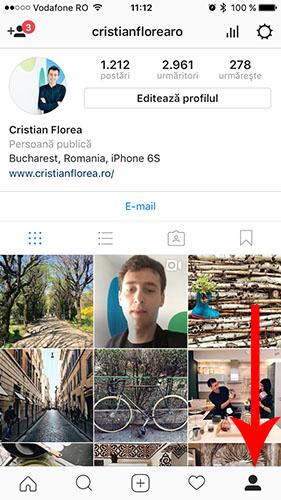 lista cu postarile la care ai dat like pe Instagram 1